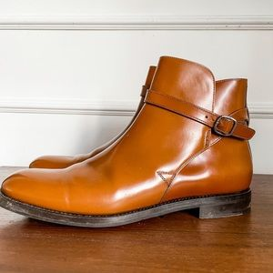 Church's monk strap polished Chelsea boot